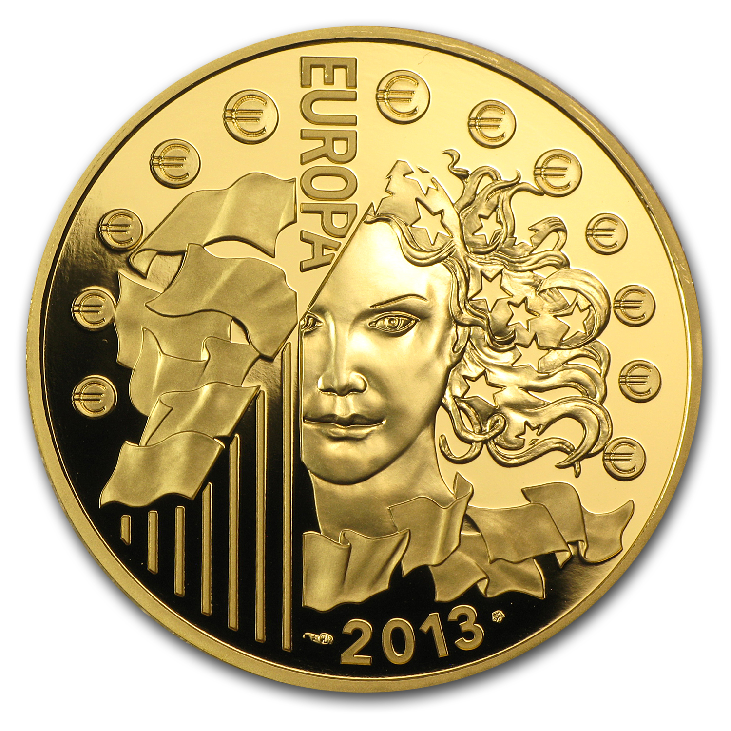 2013 1 oz Gold Europa Series - 50th Anniv. of Élysée Treaty